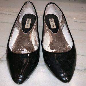 Steve Madden Patent Leather Ballet Flat in Black